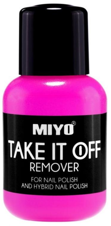 Zmywacz do paznokci do lakieru tradycyjnego i hybrydowego - Miyo Take It Off Remover — фото N1