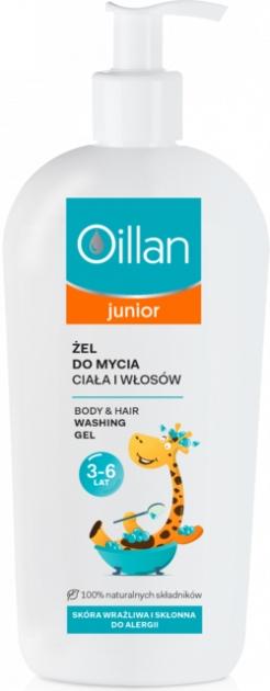 Żel do mycia ciała i włosów 3-6 lat - Oillan Junior Body & Hair Washing Gel — фото N1