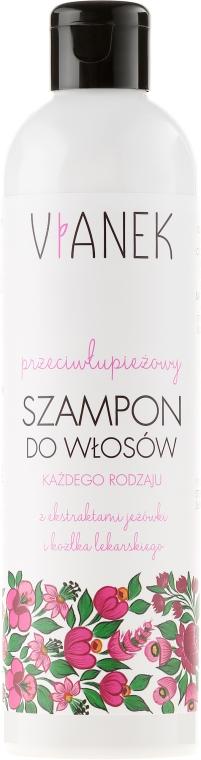 Przeciwłupieżowy szampon do włosów - Vianek Seria różowa łagodząca