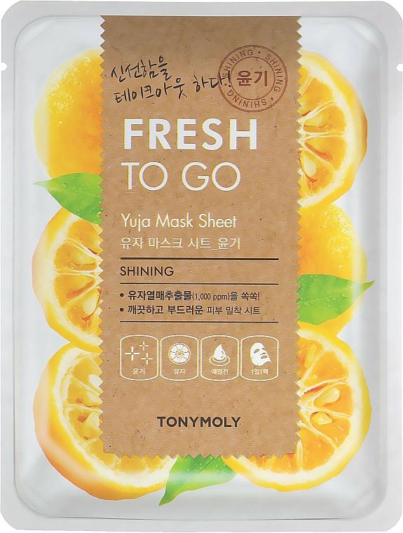 Cytrusowa maska na tkaninie do twarzy Yuja - Tony Moly Fresh To Go Mask Sheet Yuja — фото N1