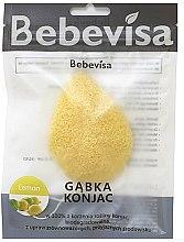 Kup Gąbka konjac do mycia twarzy, kropla Cytryna - Bebevisa Konjac Sponge