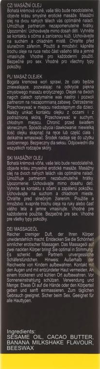 Olejek do masażu Mleczny koktajl bananowy - Sezmar Collection Love Massage Oil — фото N3
