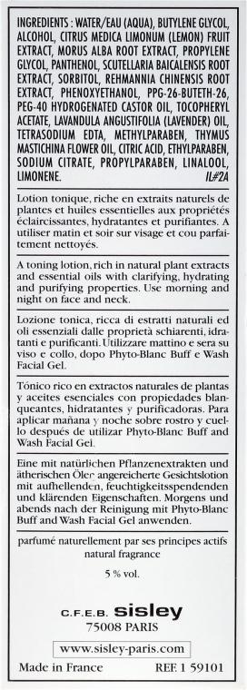 Płyn tonizujący z roślinnymi ekstraktami - Sisley Phyto-Blanc Lightening Toning Lotion — фото N3