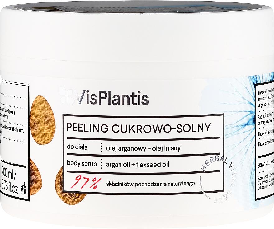 Peeling cukrowo-solny z olejami arganowym i lnianym - Vis Plantis Herbal Vital Care