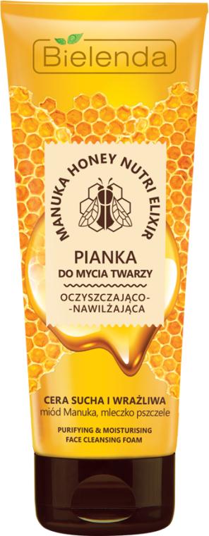 Oczyszczająco-nawilżająca pianka do mycia twarzy - Bielenda Manuka Honey Nutri Elixir