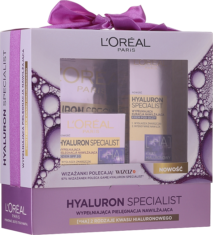 Zestaw - L'Oreal Paris Hyaluron Specialist (cr 50 ml + eye/cr 15 ml + mask 30 g)
