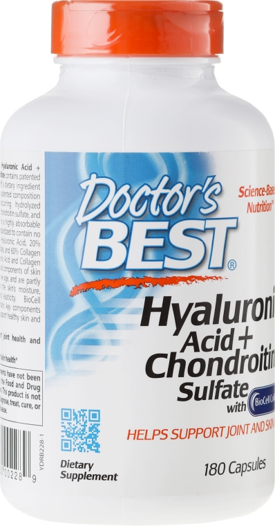 Kwas hialuronowy z siarczanem chondroityny i kolagenem na zdrowe stawy - Doctor's Best Hyaluronic Acid with Chondroitin Sulfate Capsules — фото N4