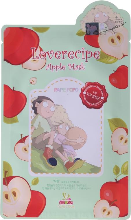 Wygładzająca celulozowa maseczka w płachcie do twarzy z ekstraktem z jabłka - Sally's Box Loverecipe Apple Mask