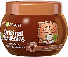 Kup Odżywcza maska prostująca do włosów z kokosem - Garnier Original Remedies Nourishing Straightening Hair Mask With Coconut