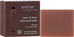 Kup PRZECENA! Naturalne mydło w kostce Miodla indyjska i glinka do skóry problematycznej - Apeiron Neem & Clay Plant Oil Soap *