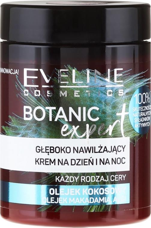 Głęboko nawilżający krem do twarzy na dzień i na noc Olej kokosowy - Eveline Cosmetics Botanic Expert