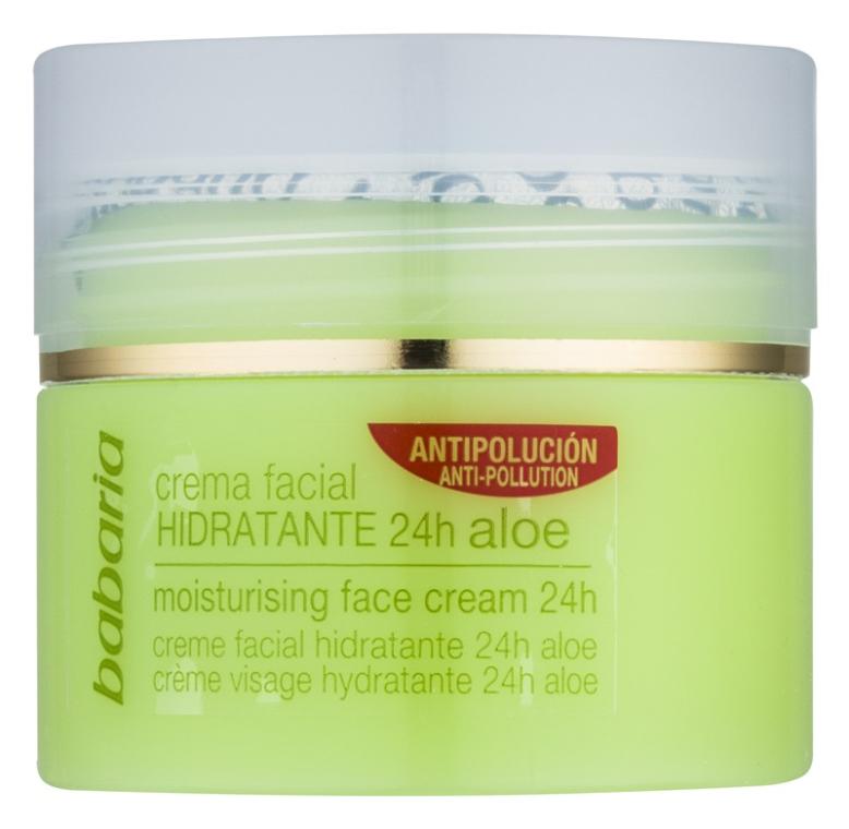 Nawilżający krem do twarzy z aloesem - Babaria Aloe Vera 24-Hour Moisturising Face Cream  — фото N2