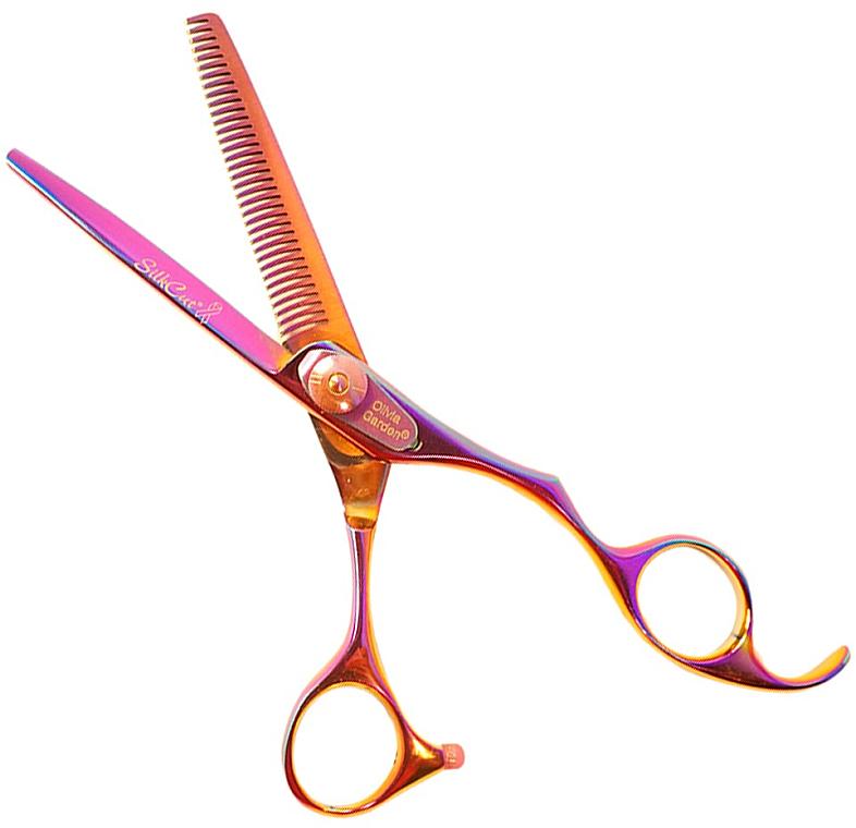 Nożyczki fryzjerskie Silkcut 6,35 - Olivia Garden Rainbow — фото N1