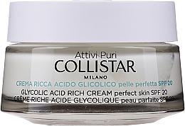 Kup PRZECENA! Odżywczy krem z kwasem glikolowym - Collistar Glycolic Acid Rich Cream SPF20 *