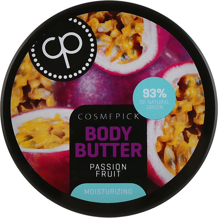 Nawilżające masło do ciała Marakuja - Cosmepick Body Butter Passion Fruit — фото N1