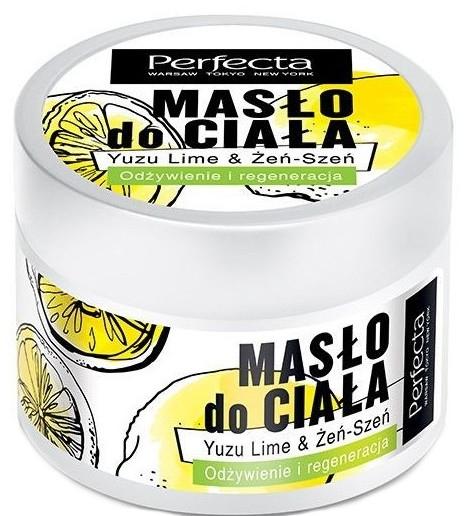 Odżywczo-regenerujące masło do ciała Yuzu i żeń-szeń - Perfecta