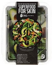Kup Zestaw masek na tkaninie do skóry wiotkiej i wymagającej regeneracji - Superfood For Skin Skin Limp And Requiring Regeneration (7 x mask 25 ml)