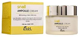 Kup Krem do twarzy ze śluzem ślimaka - Ekel Snail Ampoule Whitening Anti-Wrinkle Cream