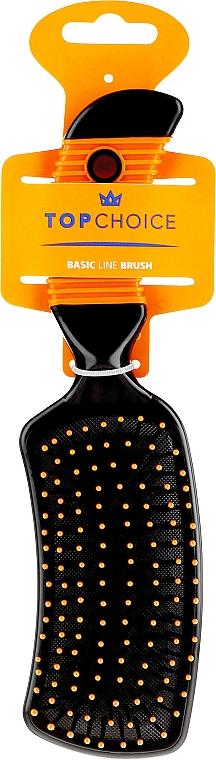 Szczotka do włosów, 2670, czarno-pomarańczowa - Top Choice — фото N1