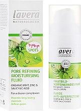 Kup Nawilżający fluid z organiczną miętą do twarzy zwężający pory - Lavera Pore Refining Moisturising Fluid