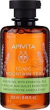 Kup Tonizujący żel pod prysznic z olejkami eterycznymi - Apivita Tonic Mountain Tea Shower Gel with Essential Oils