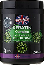 Kup Odbudowująca maska z keratyną do włosów cienkich i łamliwych - Ronney Professional Keratin Complex Rebuilding Mask