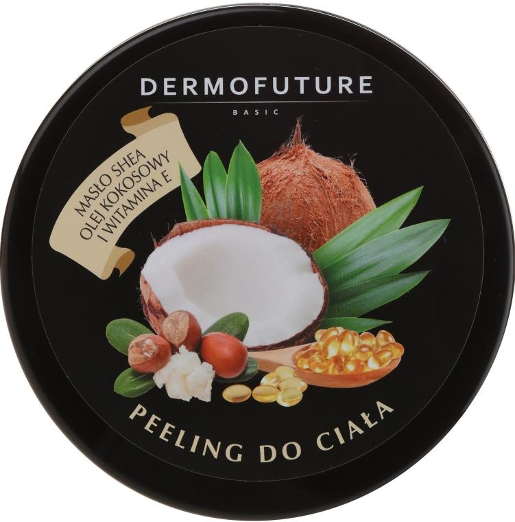 Cukrowy peeling do ciała z masłem shea i kokosowe - DermoFuture Sugar Body Scrub