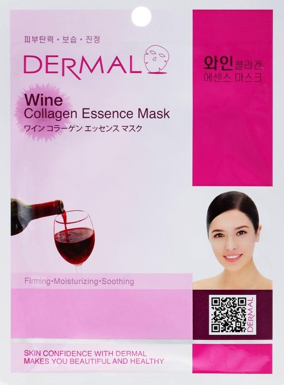 Kolagenowa esencjonalna maseczka w płachcie do twarzy Wino - Dermal Wine Collagen Essence Mask — фото N1