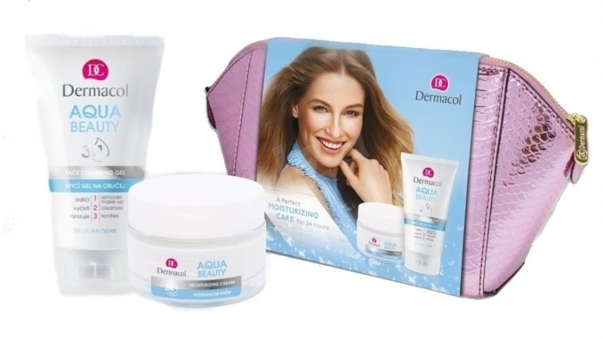 Zestaw dla dzieci - Dermacol Aqua Beauty (cr/50ml + gel/150ml + bag) — фото N1