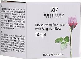 Kup Nawilżający krem do twarzy SPF50 - Hristina Cosmetics Moisturizing Face Cream With Bulgarian Rose SPF50