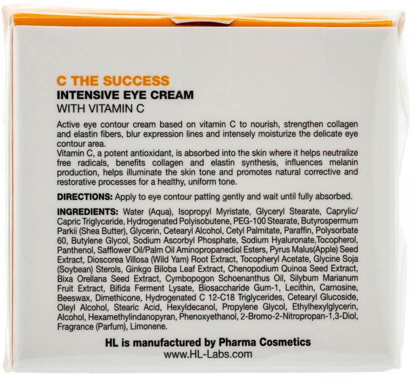 Intensywny krem nawilżający do twarzy - Holy Land Cosmetics C the Success Intensive Eye Cream With Vitamin  — фото N2