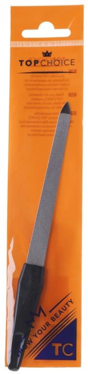 Pilnik szafirowy do paznokci, 17 cm, 7217, czarny - Top Choice — фото N1