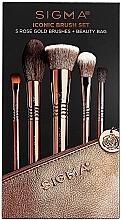 Kup Zestaw pędzli do makijażu, 5 szt. - Sigma Beauty Iconic Brush Set