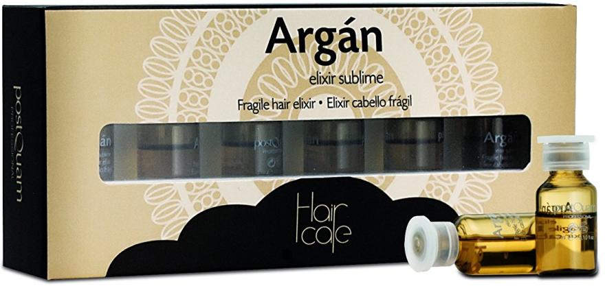Arganowy eliksir naprawczy w ampułkach - PostQuam Argan Fragile Hair Elixir — фото N1