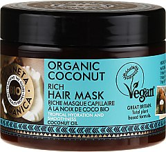 Kup Bogata maska nawilżająca do włosów Organiczny kokos - Planeta Organica Organic Coconut Rich Hair Mask