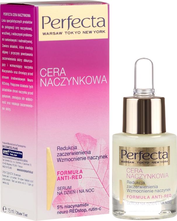 Serum na dzień i na noc do cery naczynkowej redukujące zaczerwienienia i wzmacniające naczynka - Perfecta Cera naczynkowa — фото N1