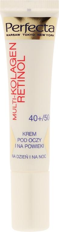 Krem pod oczy i na powieki Redukcja cieni 40+/50+ - Perfecta Multi-Collagen Retinol — фото N2