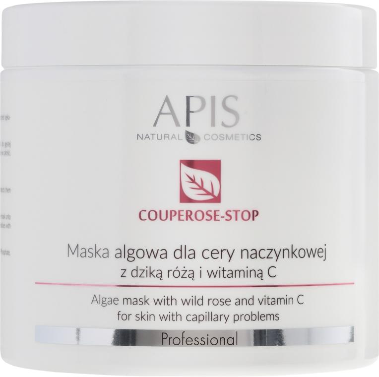 Algowa maska do cery naczynkowej z dziką różą i witaminą C - APIS Professional Couperose-Stop