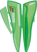 Zestaw Ortho Pocket Set, zielony - Curaprox (brushes 07,14,18/3pcs + UHS/1pcs + orthod/wax/1pcs + box) — фото N2