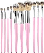 Kup Zestaw profesjonalnych pędzli do makijażu, różowe, 10 szt. - Tools For Beauty