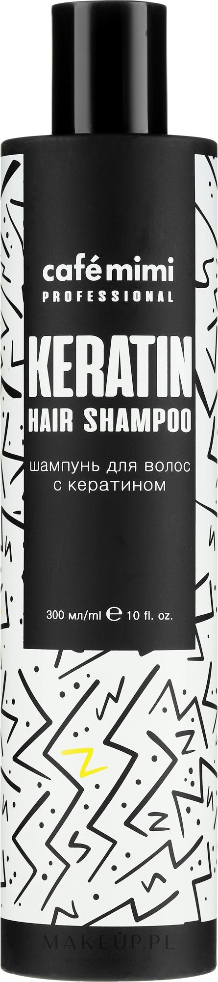Szampon do włosów zniszczonych z keratyną - Café Mimi Professional Keratin Hair Shampoo — фото 300 ml