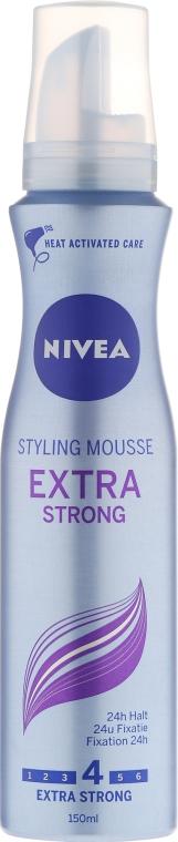 Pianka do włosów - Nivea Extra Strong Styling Mousse — фото N1