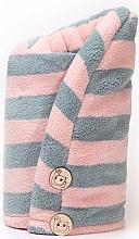 Kup Ręcznik do włosów z mikrofibry - Trust My Sister Pink + Grey