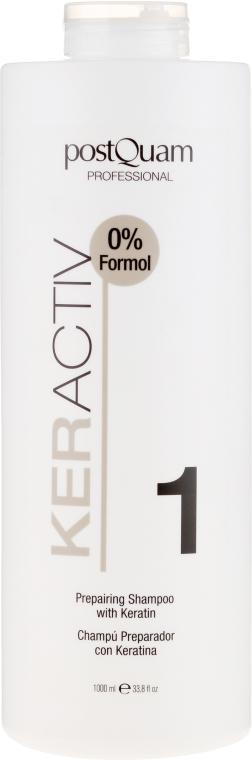 Keratynowy szampon do stosowania przed prostowaniem włosów - PostQuam Keractiv Prepearing Shampoo With Keratin — фото N1