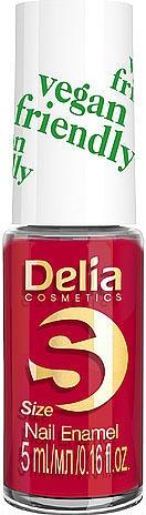 Wegański lakier do paznokci - Delia Cosmetics S-Size Vegan Friendly Nail Enamel