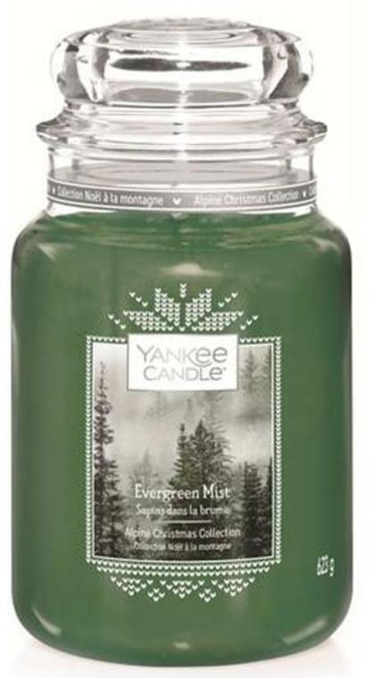 Świeca zapachowa w słoiku - Yankee Candle Evergreen Mist Alpine Christmas Collection — фото N3