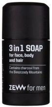 Kup Mydło do twarzy, ciała i włosów 3 w 1 - Zew For Men 3 in 1 Soap For Face Body And Hair