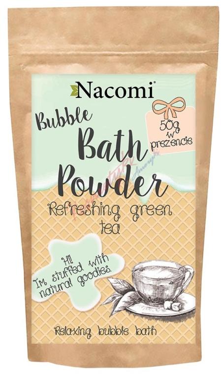 Puder do kąpieli Zielona herbata - Nacomi Refreshing Green Tea Bath Powder