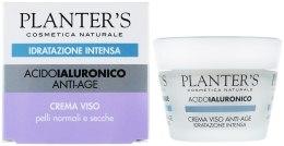 Kup Intensywnie nawilżający przeciwstarzeniowy krem do twarzy z kwasem hialuronowym - Planter's Hyaluronic Anti-Age Face Cream Intense Hydration