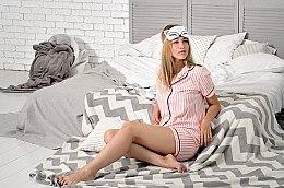 Maska do snu Tender Fox, biała (19 x 8 cm) - Makeup — фото N2